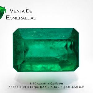 esmeralda certificada talla rectangular 2.02 quilates certificated emerald