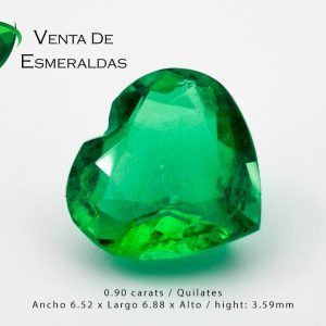 esmeralda colombiana talla corazon colombian emerald cut heart gemstone