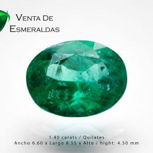 esmeralda colombiana talla ovalada de 1.40 quilates colombian emerald