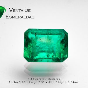 esmeralda colombiana talla rectangular colombian emerald