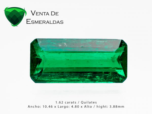 esmeralda colombiana de 1.62 alta calidad colombian emerald