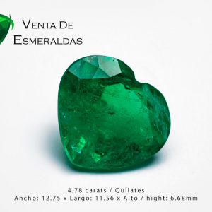 esmeralda talla corazon colombian emerald shape heart