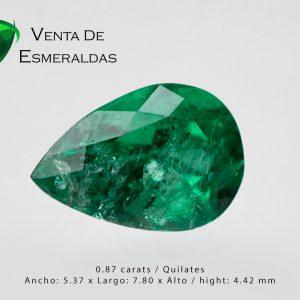 esmeralda talla lagrima de 0.78 quilates