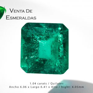 esmeralda colombiana de 1.04 quilates colombian emerald