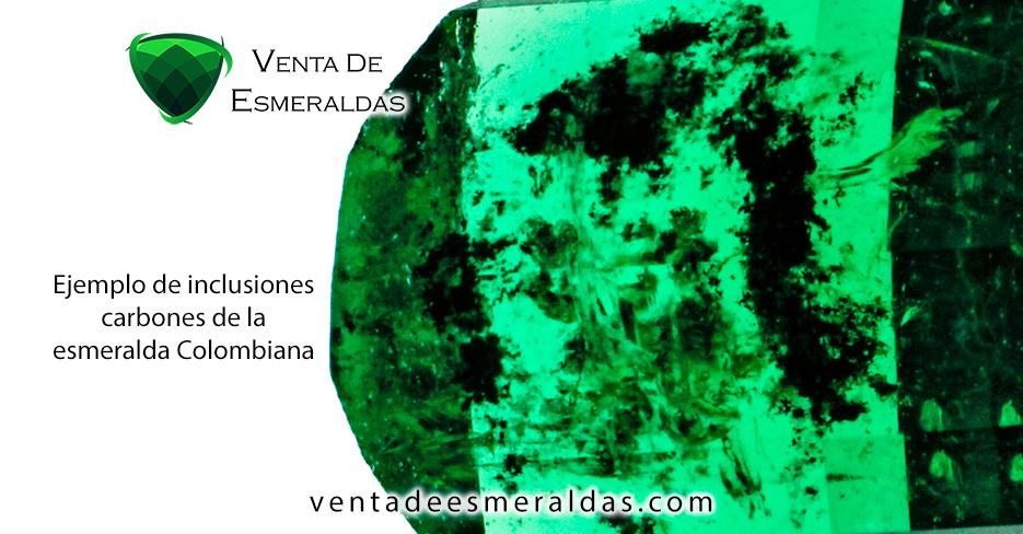 carbones e inclusiones de la esmeralda colombiana