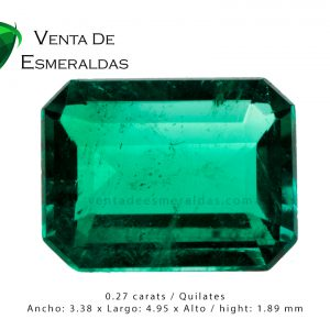 esmeralda colombiana talla rectangular square emerald