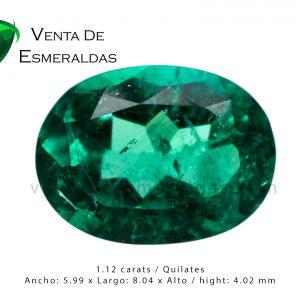 esmeralda colombiana talla ovalada oval emerald