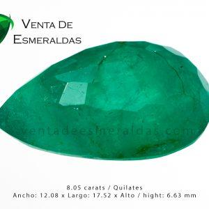 esmeralda gigante talla lagrima