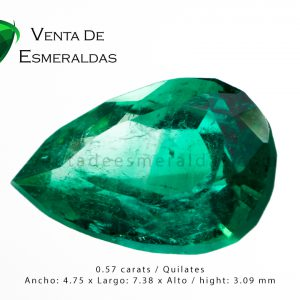 esmeralda colombiana de 0.57 quilates colombian emerald cut tear o pear