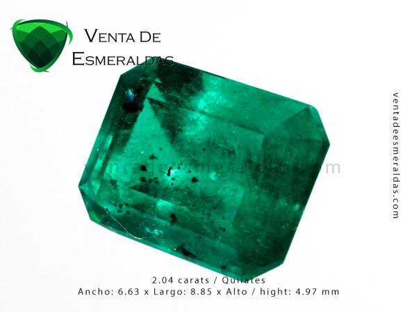 esmeralda colombiana de 2 quilates