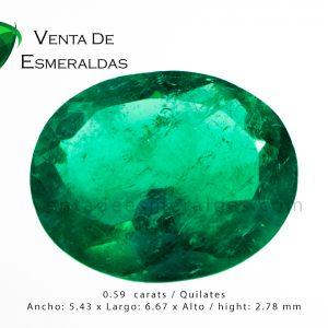 esmeralda ovalada colombian emerald