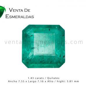 colombian emerald square esmeralda colombiana corte talla cuadrada
