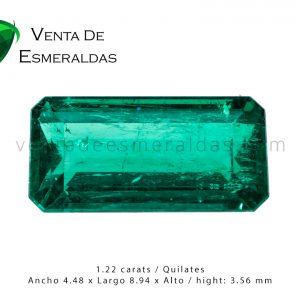 esmeralda canutillo de 1.22 quilates gota de aceite