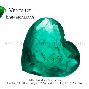 esmeralda colombiana talla corazon colombian emerald cut heart
