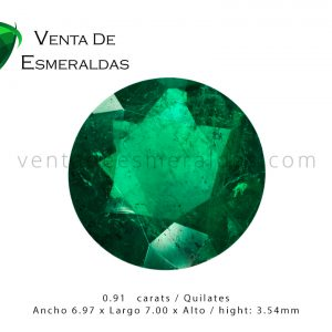 esmeralda colombiana talla redonda colombian emerald cut round