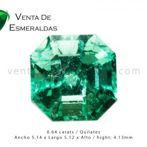 esmeralda colombiana talla cuadrada colombian emerald