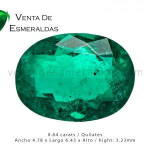 esmeralda colombiana talla ovalada colombian emerald