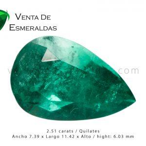esmeralda colombiana talla pera