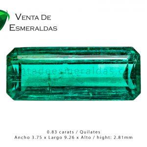 esmeraldas colombianas canutillo de 0.83 kilates colombian emerald