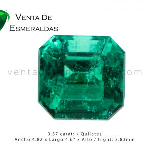 esmeralda colombiana rectangular square colomnbian emerald