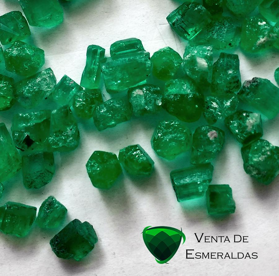 esmeraldas colombiana en bruto